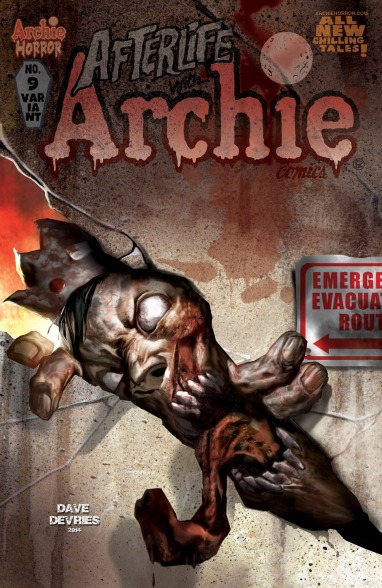 AFTERLIFE WITH ARCHIE #9 Variant Cover by Dave Devries